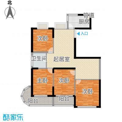 盛荟157.00㎡盛荟户型图A-01/065室2厅1卫1厨户型5室2厅1卫1厨