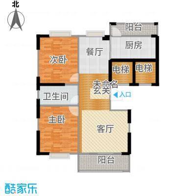 苏建花园城115.00㎡四期大高层-DG4户户型2室1卫1厨