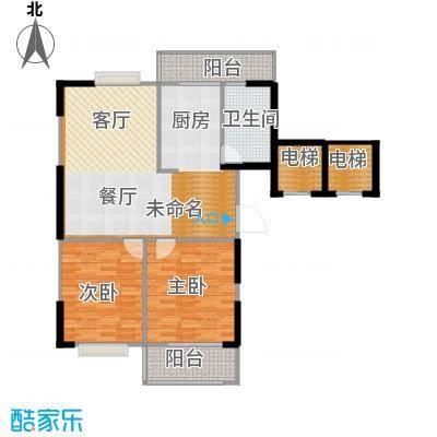 苏建花园城113.00㎡四期大高层-DG3户户型2室1卫