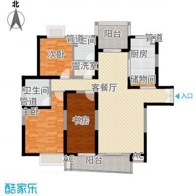 南通中央商务区148.00㎡南通中央商务区户型图3室2厅2卫户型10室