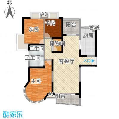 南通中央商务区136.00㎡南通中央商务区户型图3室2厅2卫户型10室