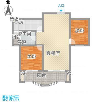 南通中央商务区105.00㎡南通中央商务区2室户型2室