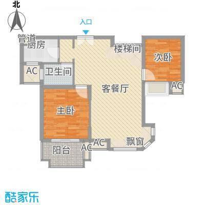 南通中央商务区102.00㎡南通中央商务区2室户型2室