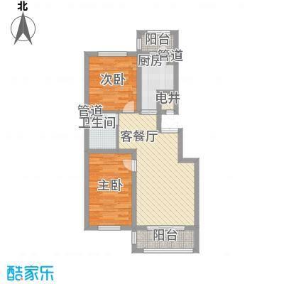 英伦名邸75.00㎡英伦名邸户型图7号楼2单元2室2厅1卫1厨户型2室2厅1卫1厨