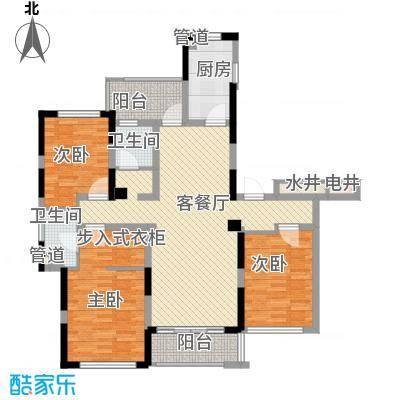 万濠华府135.78㎡万濠华府户型图1、2#楼标准层户型3室2厅2卫2厨户型3室2厅2卫2厨