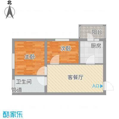 红星家园41.29㎡红星家园户型图一号楼户型2室1厅1卫1厨户型2室1厅1卫1厨