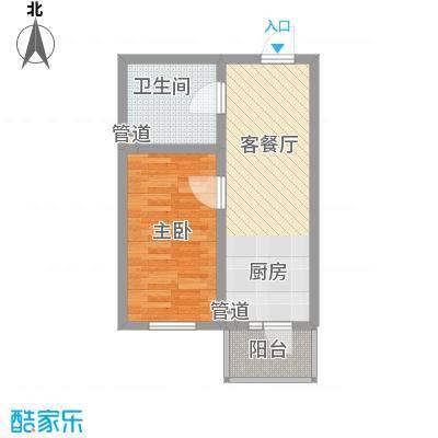 红星家园33.95㎡红星家园户型图九号楼户型1室1厅1卫1厨户型1室1厅1卫1厨