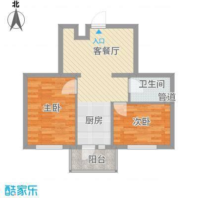 红星家园46.10㎡红星家园户型图一号楼户型2室1厅1卫1厨户型2室1厅1卫1厨