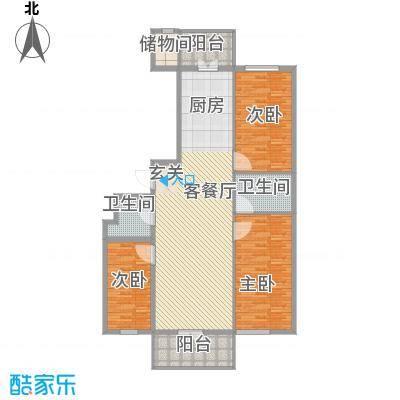 农垦新城105.87㎡农垦新城户型图D户型3室1厅2卫1厨户型3室1厅2卫1厨