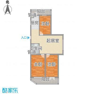 家园新城82.73㎡家园新城户型图D户型3室1厅1卫1厨户型3室1厅1卫1厨