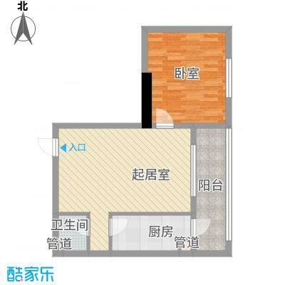 家园新城48.95㎡家园新城户型图F户型1室1厅1卫1厨户型1室1厅1卫1厨