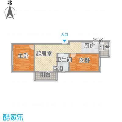 家园新城64.97㎡家园新城户型图G户型2室1厅1卫1厨户型2室1厅1卫1厨