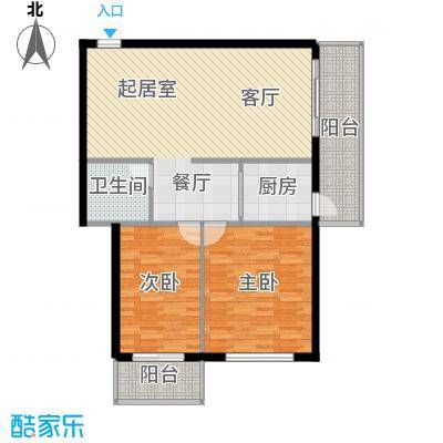 明珠公寓73.73㎡明珠公寓户型图C户型2室2厅1卫1厨户型2室2厅1卫1厨