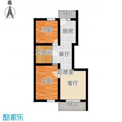 幸福里59.95㎡幸福里户型图高层C户型2室2厅1卫1厨户型2室2厅1卫1厨