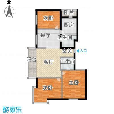 绿海华庭91.91㎡绿海华庭户型图高层H户型3室2厅2卫1厨户型3室2厅2卫1厨