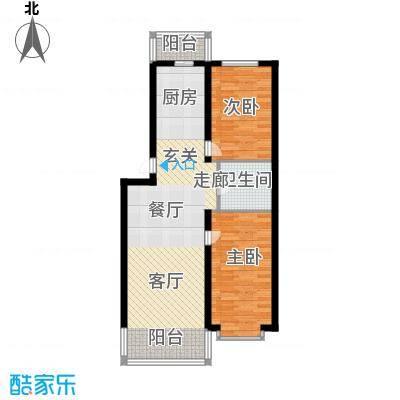 绿海华庭75.10㎡绿海华庭户型图多层F户型2室1厅1卫1厨户型2室1厅1卫1厨