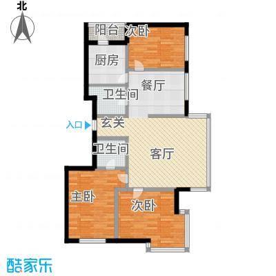 绿海华庭89.23㎡绿海华庭户型图高层G户型3室2厅2卫1厨户型3室2厅2卫1厨