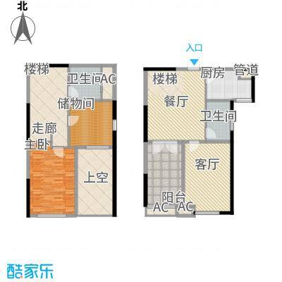 中铁・逸都国际89.00㎡逸馆F户型2室2厅2卫1厨