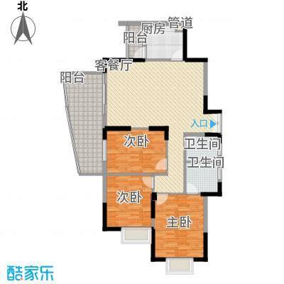 远大生态风景二期栖景湾129.00㎡4-7栋奇数层J2户型3室2厅2卫1厨