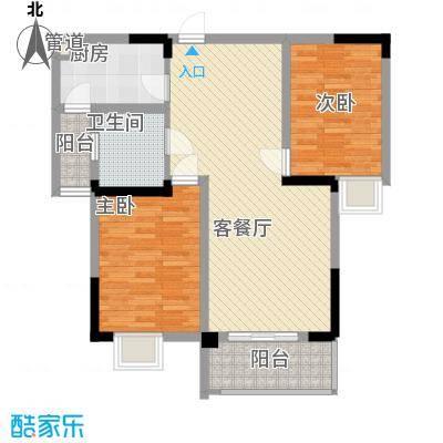 银领时代89.62㎡银领时代户型图D2户型2室2厅1卫1厨户型2室2厅1卫1厨