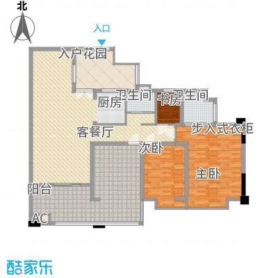 富中蝴蝶谷153.00㎡C1户型3室2厅2卫1厨