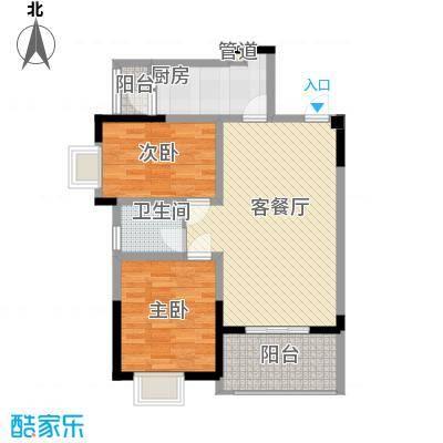 银领时代81.00㎡银领时代户型图E2户型两室两厅一卫2室2厅1卫1厨户型2室2厅1卫1厨