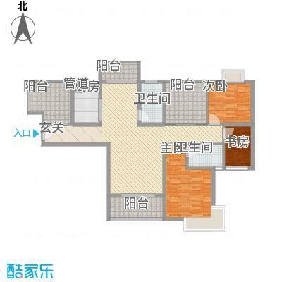 景隆现代城128.24㎡景隆现代城户型图L户型3室2厅2卫1厨户型3室2厅2卫1厨