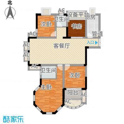 新港名仕花园140.00㎡新港名仕花园户型图C4户型3室2厅2卫1厨户型3室2厅2卫1厨