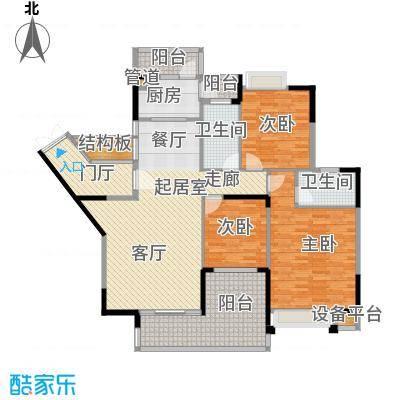 欧浦皇庭150.20㎡欧浦皇庭户型图4栋标准层05-06单元3室2厅2卫1厨户型3室2厅2卫1厨