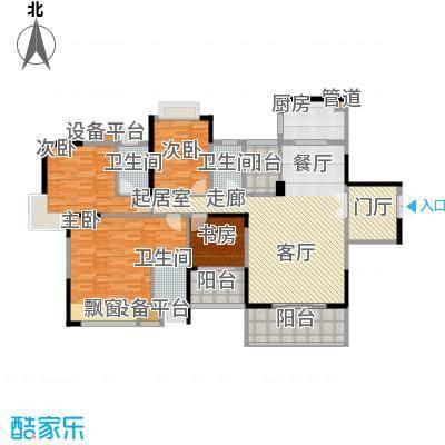 欧浦皇庭170.74㎡欧浦皇庭户型图4和5栋标准层01-02和05-06单元4室2厅3卫1厨户型4室2厅3卫1厨