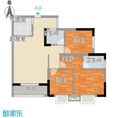 中铁・逸都国际112.33㎡45/46栋4号户型3室2厅2卫1厨