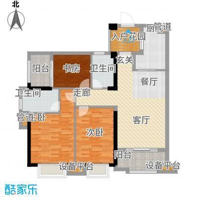 万科广场109.00㎡3号楼A户型03、04单元户型3室2厅2卫