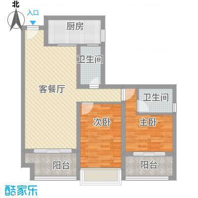 时光俊园86.47㎡4-7号楼C户型2室2厅1卫2厨约86.47㎡户型2室2厅1卫2厨