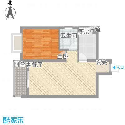 金龙国际花园63.89㎡金龙国际花园户型图37号楼1单元16层3号1室2厅1卫1厨户型1室2厅1卫1厨
