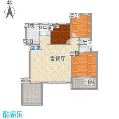 金龙国际花园129.80㎡金龙国际花园户型图户型29号楼B33室2厅2卫1厨户型3室2厅2卫1厨