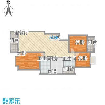 金龙国际花园125.98㎡金龙国际花园户型图40号楼2单元8层1号3室2厅2卫1厨户型3室2厅2卫1厨