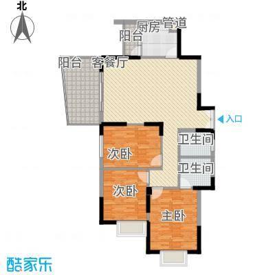 远大生态风景二期栖景湾126.00㎡4-7栋偶数层J1户型3室2厅2卫1厨