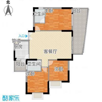 远大生态风景二期栖景湾132.00㎡4-7栋奇数层I2户型3室2厅2卫1厨