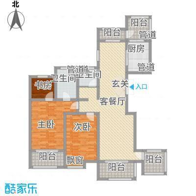 新梅御香山163.00㎡C户型3室2厅2卫1厨