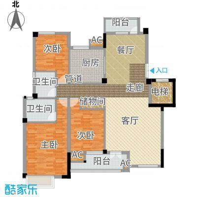 海棠湾花园136.90㎡海棠湾花园户型图洋房HY-G3室2厅2卫1厨户型3室2厅2卫1厨