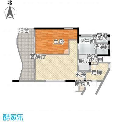 隆源・神州半岛户型图D户型 1室2厅1卫