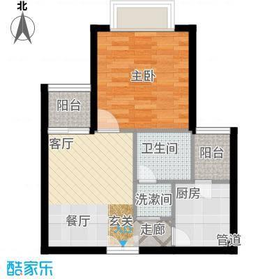 南山花园户型图同福阁B2户型 1室1厅1卫