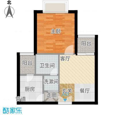 南山花园户型图同福阁B户型 1室1厅1卫