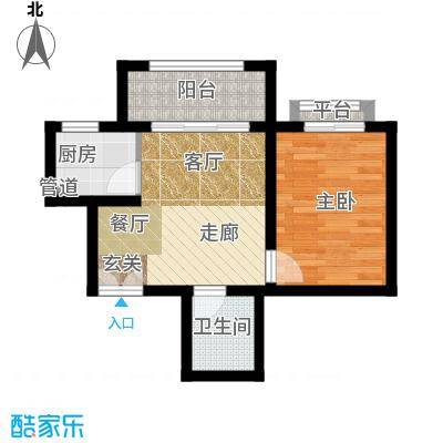 南山花园户型图福至阁A2户型 1室1厅1卫
