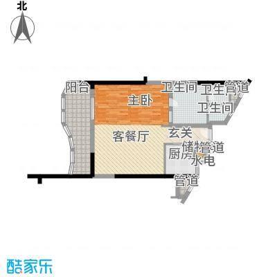 隆源・神州半岛户型图C户型 1室2厅1卫