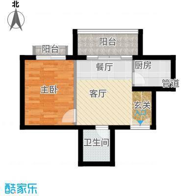 南山花园户型图福慧阁A户型 1室1厅1卫