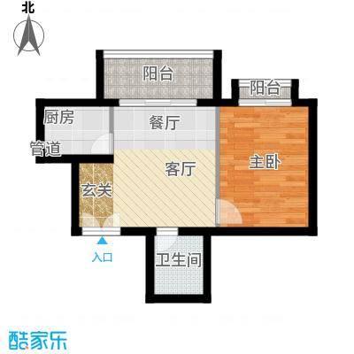 南山花园户型图福禄阁A2户型 1室1厅1卫