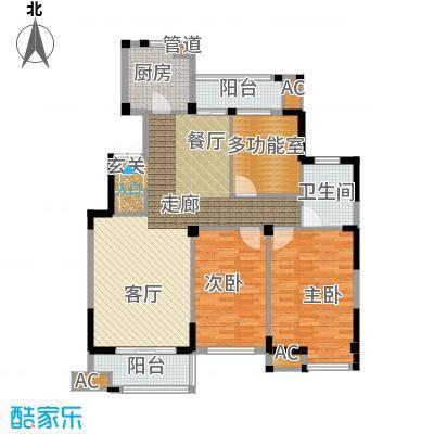 海棠湾花园115.59㎡海棠湾花园户型图高层GC3室2厅1卫1厨户型3室2厅1卫1厨