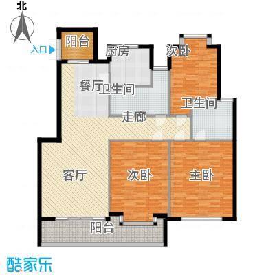 江阴外滩名门149.00㎡江阴外滩名门户型图K户型(4#楼)3室2厅2卫1厨户型3室2厅2卫1厨