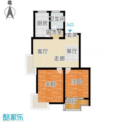 江阴外滩名门104.00㎡江阴外滩名门户型图R户型(4#楼)2室2厅1卫1厨户型2室2厅1卫1厨